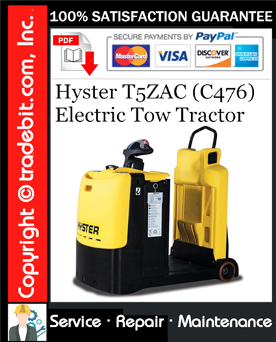 Thumbnail Hyster T5ZAC (C476) Electric Tow Tractor Service Repair Manual Download ★