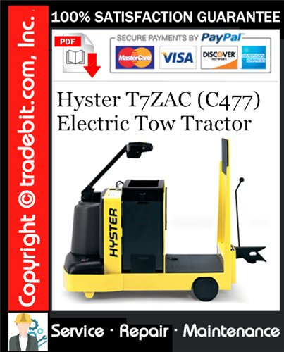 Thumbnail Hyster T7ZAC (C477) Electric Tow Tractor Service Repair Manual Download ★
