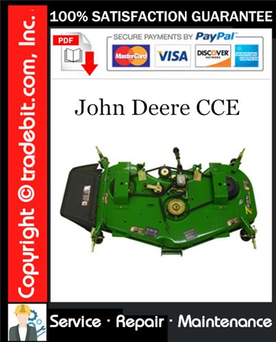 Pay for John Deere CCE Service Repair Manual Download ★