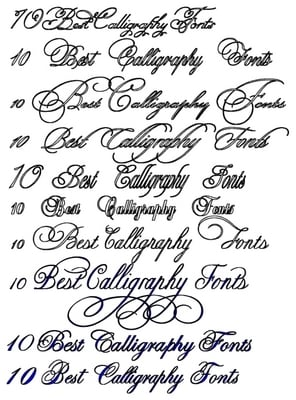10 BEST CALLIGRAPHY FONTS COLLECTION - DOWNLOAD NOW ! - Download Fonts