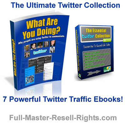 Pay for *New!* ULTIMATE TWITTER TRAFFIC SECRETS COLLECTION - 7 EBOOKS with FULL PLR, MRR RIGHTS !