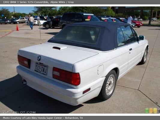 88 Bmw 325i Convertible. BMW 325i Convertible Service