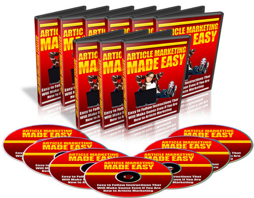 Pay for *NEW* Article Marketing Made Easy Video Tutorials (6 Videos) with Master Resale Rights !
