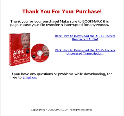 Pay for *NEW*! ADHD SECRETS UNCOVERED - AudioBook(MP3 / 150+ MB) with Master Resell Rights(MRR) - DOWNLOAD NOW!!