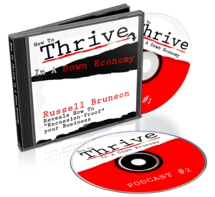Pay for *NEW!* Thrive In A Down Economy  (Audio Tutorial ) - With Master Resale Rights (MRR)
