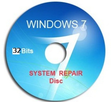 Pay for Windows 7 System Repair Recovery Disk 32 Bit CD DVD .ISO