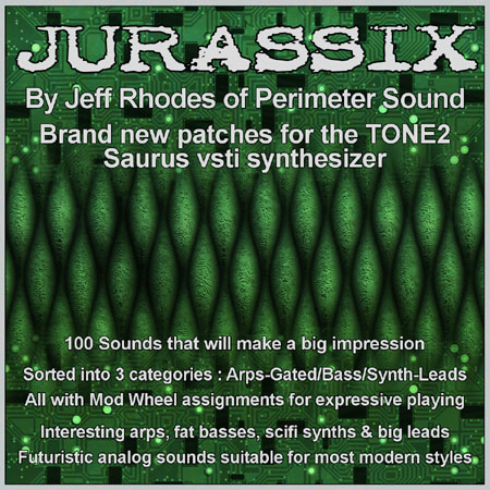 Pay for Jurassix - 100 Patches for the Tone2 Saurus software synth