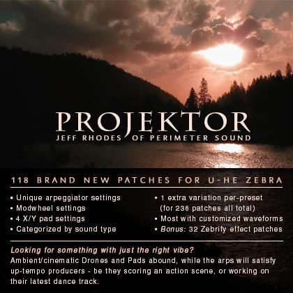 Pay for Projektor U-He Zebra 2.5 Vsti Patch Presets Collection
