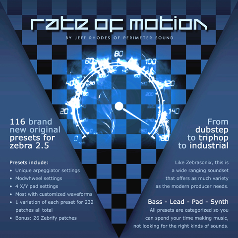 Pay for Rate Of Motion U-He Zebra 2.5 Vsti Patch Presets Collection