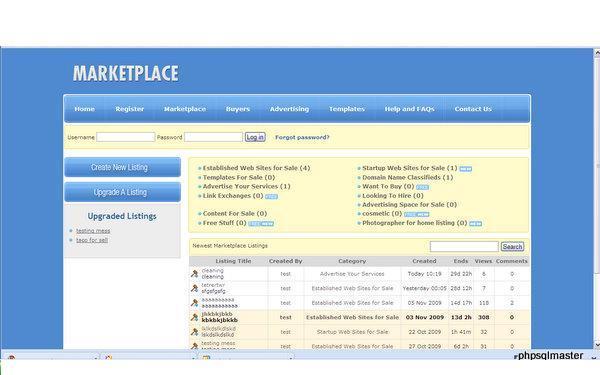 Pay for Sitepoint.com Marketplace replica/Flippa.com clone