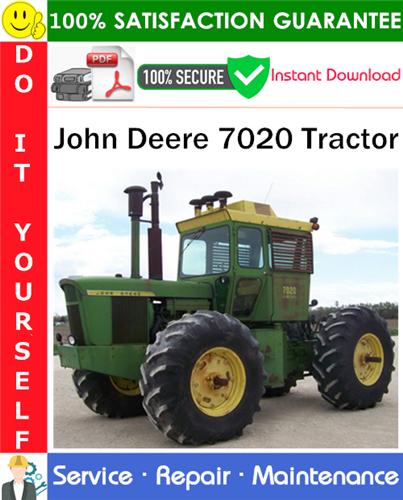 Thumbnail John Deere 7020 Tractor Service Repair Manual PDF Download ◆