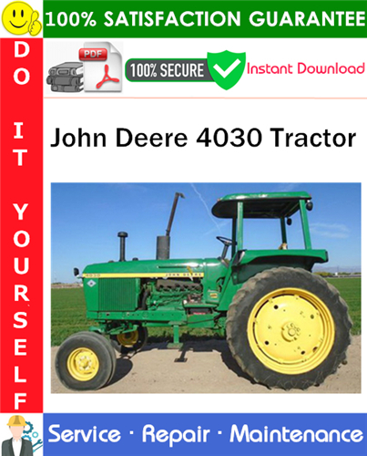 Thumbnail John Deere 4030 Tractor Service Repair Manual PDF Download ◆