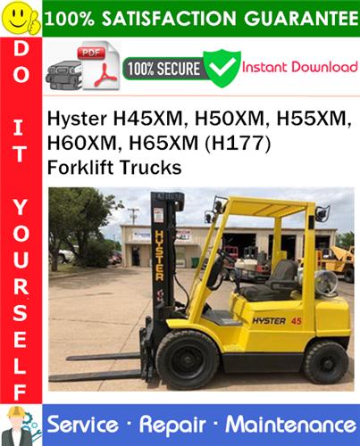 Thumbnail Hyster H45XM, H50XM, H55XM, H60XM, H65XM (H177) Forklift Trucks Service Repair Manual PDF Download ◆