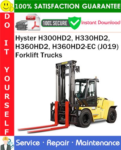 Thumbnail Hyster H300HD2, H330HD2, H360HD2, H360HD2-EC (J019) Forklift Trucks Service Repair Manual PDF Download ◆