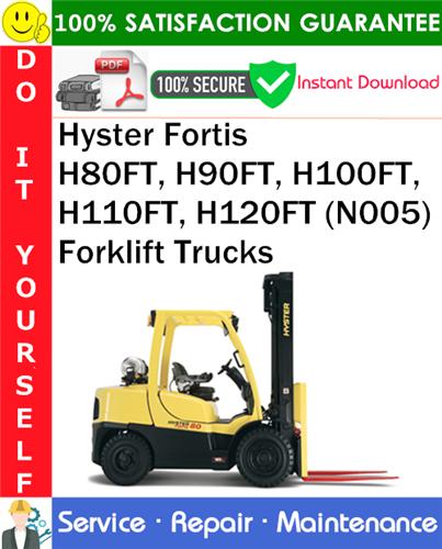 Thumbnail Hyster Fortis H80FT, H90FT, H100FT, H110FT, H120FT (N005) Forklift Trucks Service Repair Manual PDF Download ◆