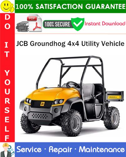 Thumbnail JCB Groundhog 4x4 Utility Vehicle Service Repair Manual PDF Download ◆