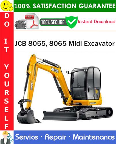 Thumbnail JCB 8055, 8065 Midi Excavator Service Repair Manual PDF Download ◆