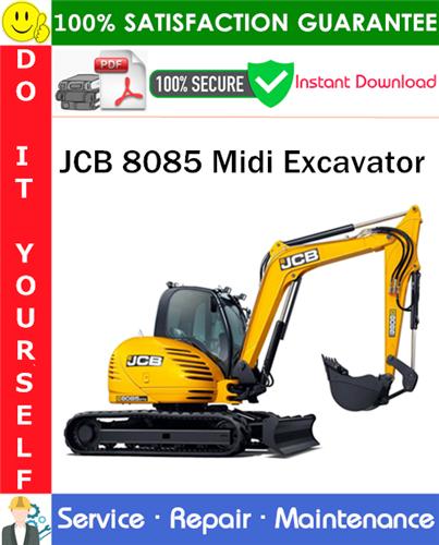 Thumbnail JCB 8085 Midi Excavator Service Repair Manual PDF Download ◆