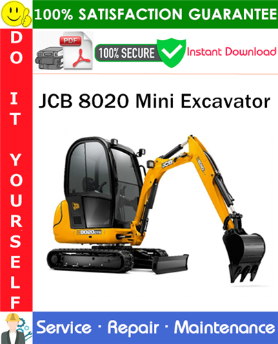 Thumbnail JCB 8020 Mini Excavator Service Repair Manual PDF Download ◆