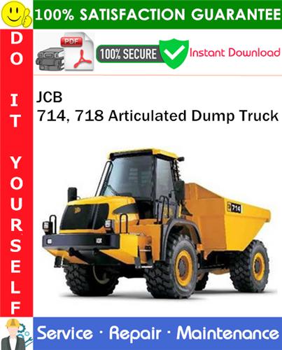 Thumbnail JCB 714, 718 Articulated Dump Truck Service Repair Manual PDF Download ◆