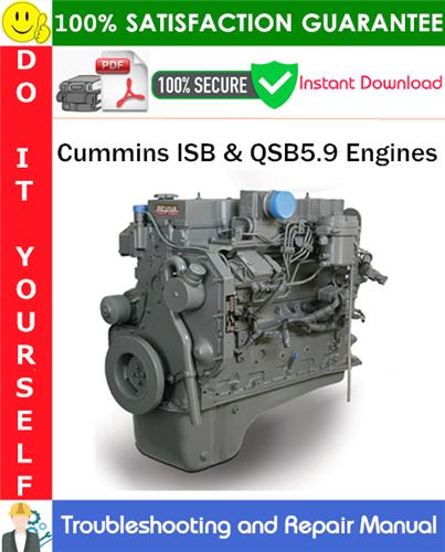 Thumbnail Cummins ISB & QSB5.9 Engines Troubleshooting and Repair Manual PDF Download ◆