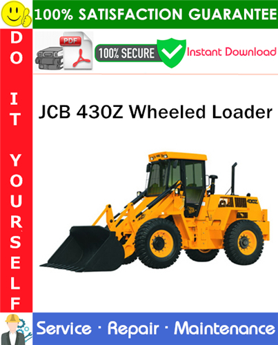 Thumbnail JCB 430Z Wheeled Loader Service Repair Manual PDF Download ◆