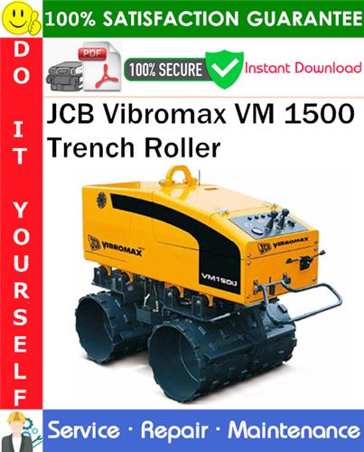 Thumbnail JCB Vibromax VM 1500 Trench Roller Service Repair Manual PDF Download ◆