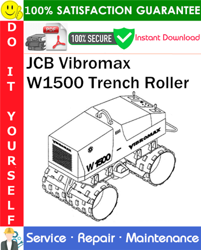 Thumbnail JCB Vibromax W1500 Trench Roller Service Repair Manual PDF Download (up to Serial Number JKC42000799) ◆
