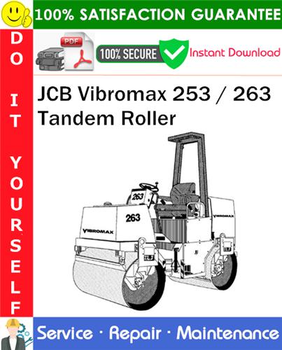 Thumbnail JCB Vibromax 253 / 263 Tandem Roller Service Repair Manual PDF Download ◆