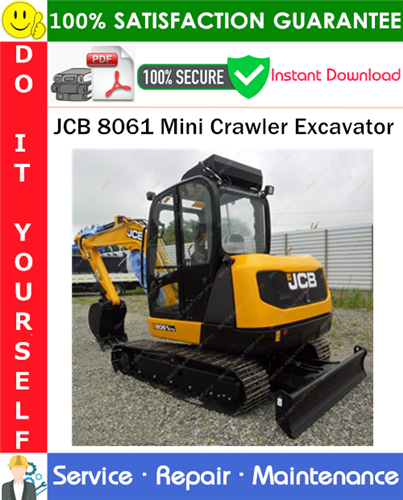 Thumbnail JCB 8061 Mini Crawler Excavator Service Repair Manual PDF Download ◆