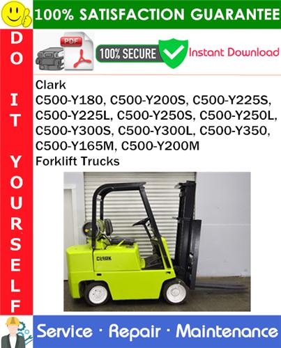 Thumbnail Clark C500-Y180, C500-Y200S, C500-Y225S, C500-Y225L, C500-Y250S, C500-Y250L, C500-Y300S, C500-Y300L, C500-Y350, C500-Y165M, C500-Y200M Forklift Trucks Service Repair Manual PDF Download ◆