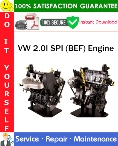 Thumbnail VW 2.0I SPI (BEF) Engine Service Repair Manual PDF Download ◆