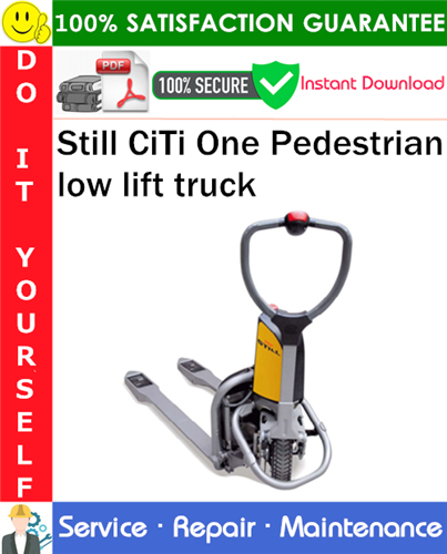 Thumbnail Still CiTi One Pedestrian low lift truck Service Repair Manual PDF Download ◆