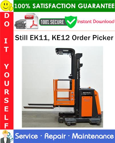 Thumbnail Still EK11, KE12 Order Picker Service Repair Manual PDF Download ◆