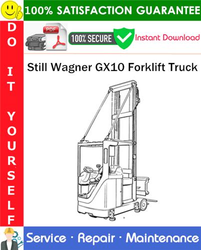 Thumbnail Still Wagner GX10 Forklift Truck Service Repair Manual PDF Download ◆