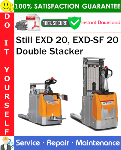 Thumbnail Still EXD 20, EXD-SF 20 Double Stacker Service Repair Manual PDF Download ◆