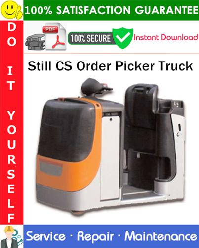 Thumbnail Still CS Order Picker Truck Service Repair Manual PDF Download ◆