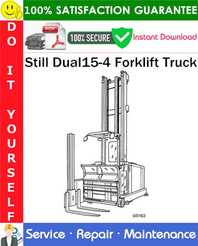 Thumbnail Still Dual15-4 Forklift Truck Service Repair Manual PDF Download ◆
