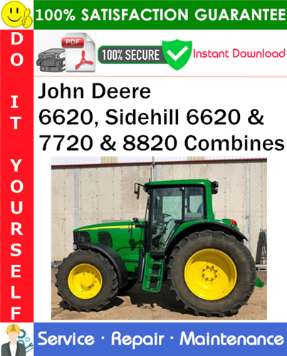Thumbnail John Deere 6620, Sidehill 6620 & 7720 & 8820 Combines Service Repair Manual PDF Download ◆