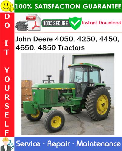 Thumbnail John Deere 4050, 4250, 4450, 4650, 4850 Tractors Service Repair Manual PDF Download ◆