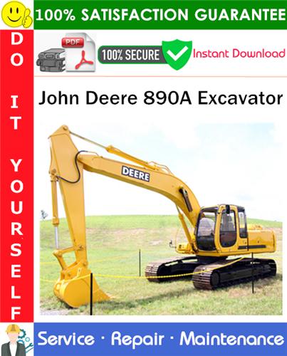 Thumbnail John Deere 890A Excavator Service Repair Manual PDF Download ◆