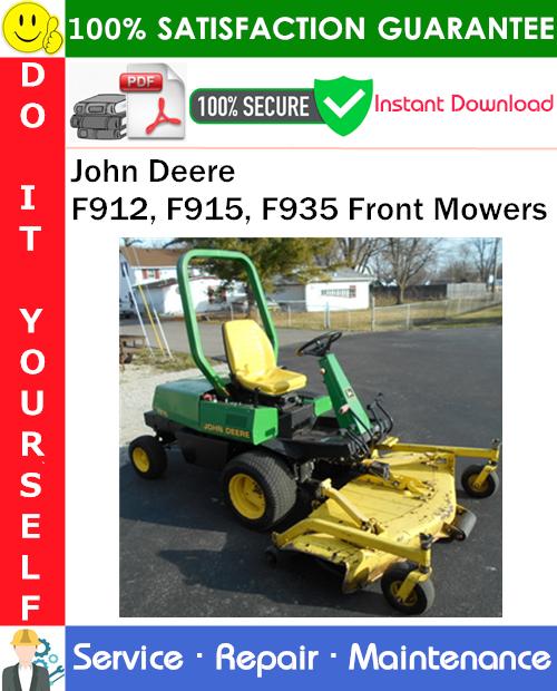 Thumbnail John Deere F912, F915, F935 Front Mowers Service Repair Manual PDF Download ◆