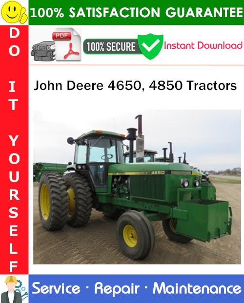Thumbnail John Deere 4650, 4850 Tractors Repair Technical Manual PDF Download ◆