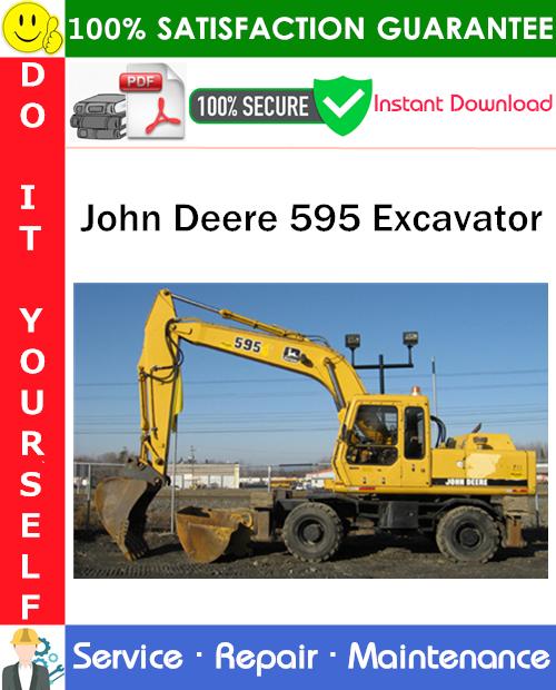 Thumbnail John Deere 595 Excavator Service Repair Manual PDF Download ◆