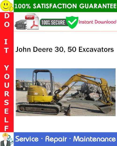 Thumbnail John Deere 30, 50 Excavators Service Repair Manual PDF Download ◆