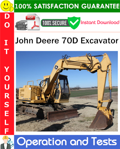 Thumbnail John Deere 70D Excavator Operation and Test Technical Manual PDF Download ◆