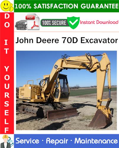 Thumbnail John Deere 70D Excavator Repair Technical Manual PDF Download ◆