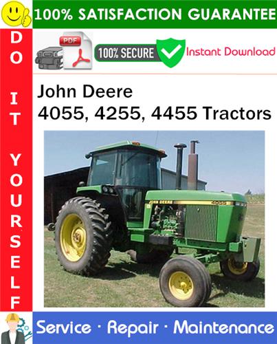 Thumbnail John Deere 4055, 4255, 4455 Tractors Repair Technical Manual PDF Download ◆