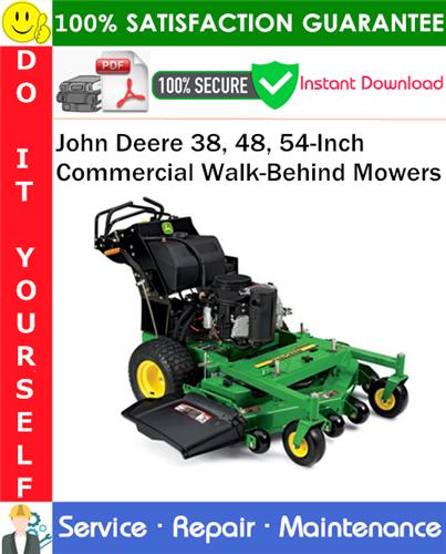 Thumbnail John Deere 38, 48, 54-Inch Commercial Walk-Behind Mowers Service Repair Manual PDF Download ◆