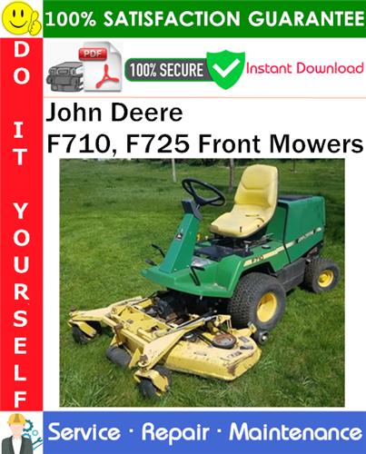 Thumbnail John Deere F710, F725 Front Mowers Service Repair Manual PDF Download ◆